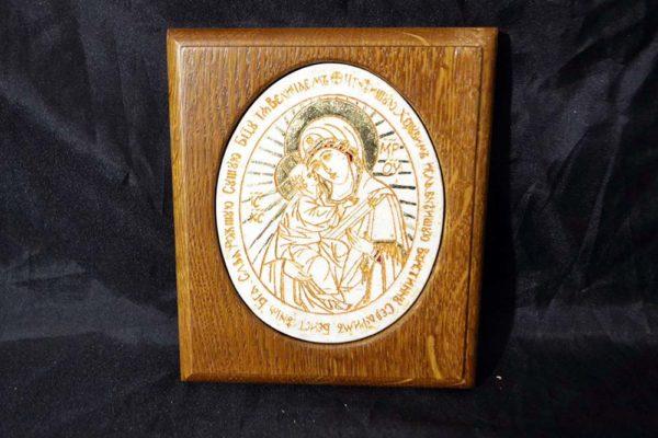 Икона Жировицкой (Жировичской) Божией Матери № 25 из мрамора, камня, изображение, фото 4