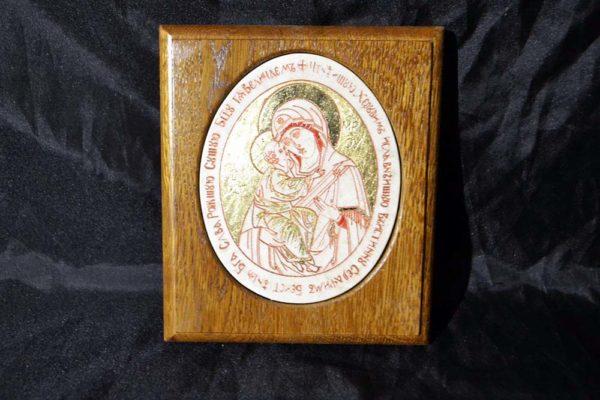 Икона Жировицкой (Жировичской) Божией Матери № 25 из мрамора, камня, изображение, фото 1