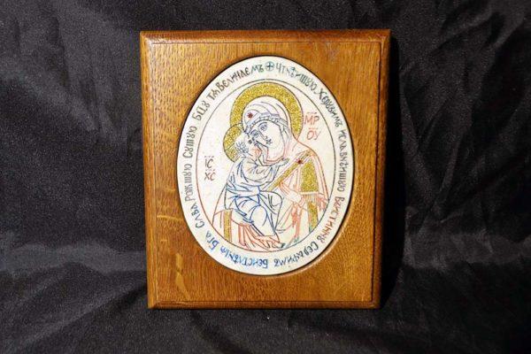 Икона Жировицкой (Жировичской) Божией Матери № 25 из мрамора, камня, изображение, фото 3