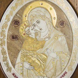 Икона Жировицкой (Жировичской) Божией Матери № п-2 из мрамора, камня, изображение, фото 5