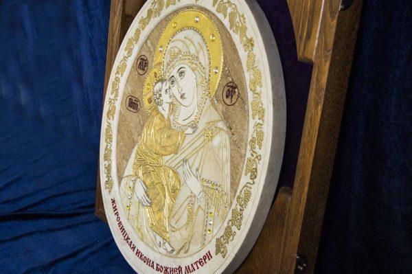 Икона Жировицкой (Жировичской) Божией Матери № п-2 из мрамора, камня, изображение, фото 14