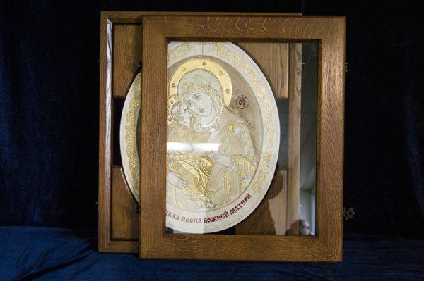 Икона Жировицкой (Жировичской) Божией Матери № п-2 из мрамора, камня, изображение, фото 6