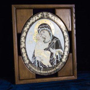 Икона Жировицкой (Жировичской) Божией Матери № п-3 из мрамора, камня, изображение, фото 1