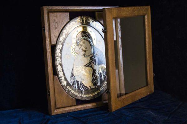 Икона Жировицкой (Жировичской) Божией Матери № п-3 из мрамора, камня, изображение, фото 3