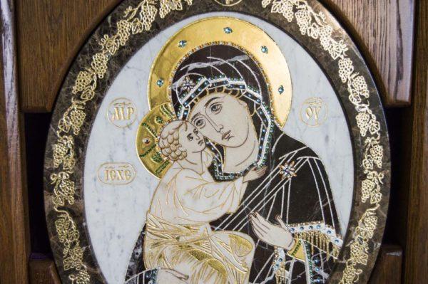 Икона Жировицкой (Жировичской) Божией Матери № п-3 из мрамора, камня, изображение, фото 11