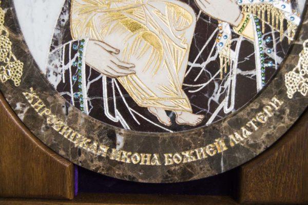 Икона Жировицкой (Жировичской) Божией Матери № п-3 из мрамора, камня, изображение, фото 7