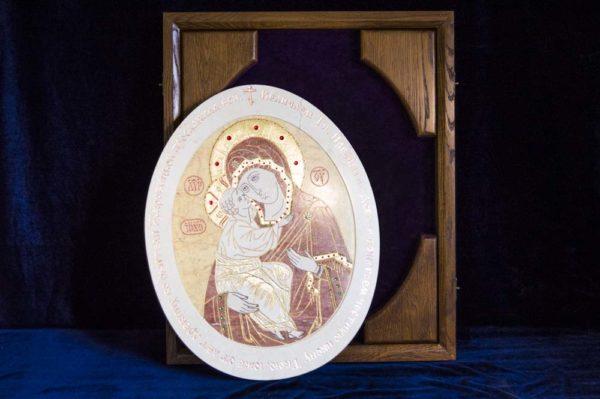 Икона Жировицкой (Жировичской) Божией Матери № п-5 из мрамора, камня, изображение, фото 7