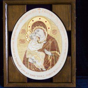 Икона Жировицкой (Жировичской) Божией Матери № п-5 из мрамора, камня, изображение, фото 3