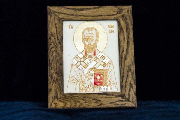 Икона Николая Чудотворца (Угодника) № 2 из мрамора, камня, изображение, фото 1