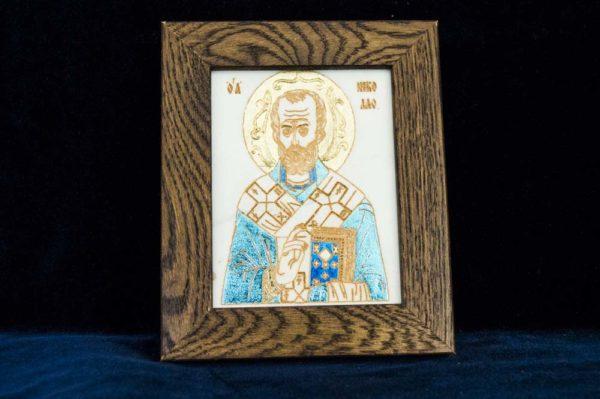 Икона Николая Чудотворца (Угодника) № 3 из мрамора, камня, изображение, фото 1