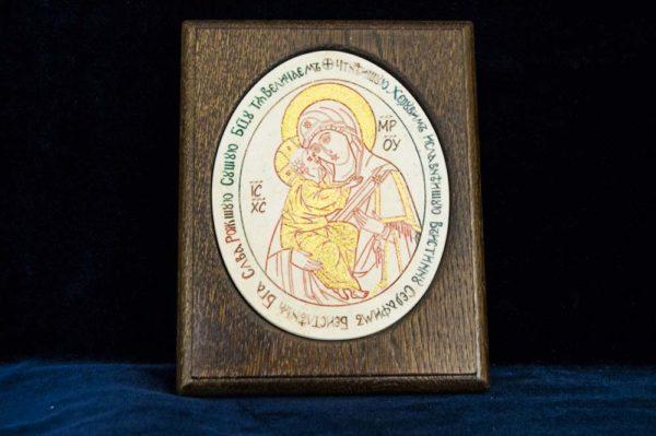 Икона Жировицкой (Жировичской) Божией Матери № 26 из мрамора, камня, изображение, фото 1