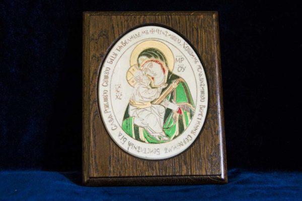 Икона Жировицкой (Жировичской) Божией Матери № 27 из мрамора, камня, изображение, фото 1
