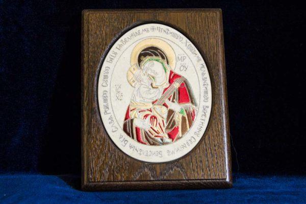 Икона Жировицкой (Жировичской) Божией Матери № 28 из мрамора, камня, изображение, фото 1