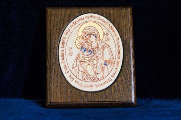 Икона Жировицкой (Жировичской) Божией Матери № 29 из мрамора, камня, изображение, фото 2