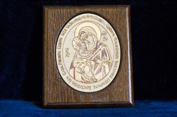 Икона Жировицкой (Жировичской) Божией Матери № 29 из мрамора, камня, изображение, фото 1