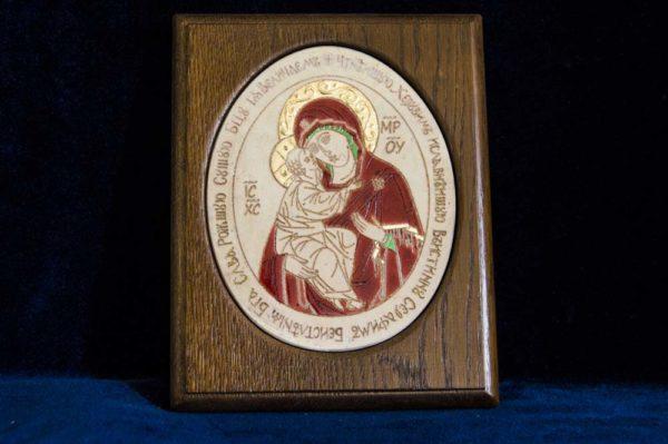 Икона Жировицкой (Жировичской) Божией Матери № 30 из мрамора, камня, изображение, фото 1