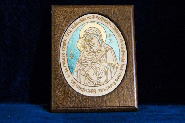 Икона Жировицкой (Жировичской) Божией Матери № 31 из мрамора, камня, изображение, фото 1