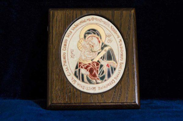 Икона Жировицкой (Жировичской) Божией Матери № 32 из мрамора, камня, изображение, фото 1