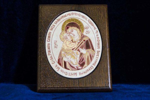 Икона Жировицкой (Жировичской) Божией Матери № 33 из мрамора, камня, изображение, фото 1