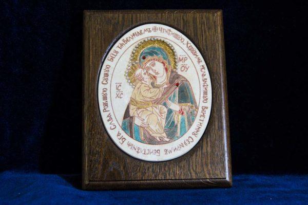 Икона Жировицкой (Жировичской) Божией Матери № 34 из мрамора, камня, изображение, фото 1