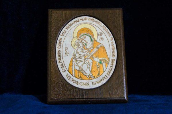 Икона Жировицкой (Жировичской) Божией Матери № 35 из мрамора, камня, изображение, фото 1