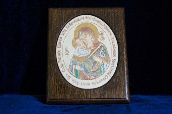 Икона Жировицкой (Жировичской) Божией Матери № 36 из мрамора, камня, изображение, фото 1