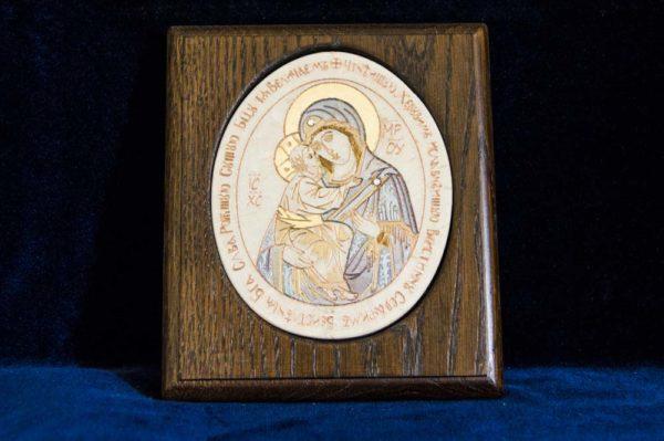 Икона Жировицкой (Жировичской) Божией Матери № 37 из мрамора, камня, изображение, фото 1