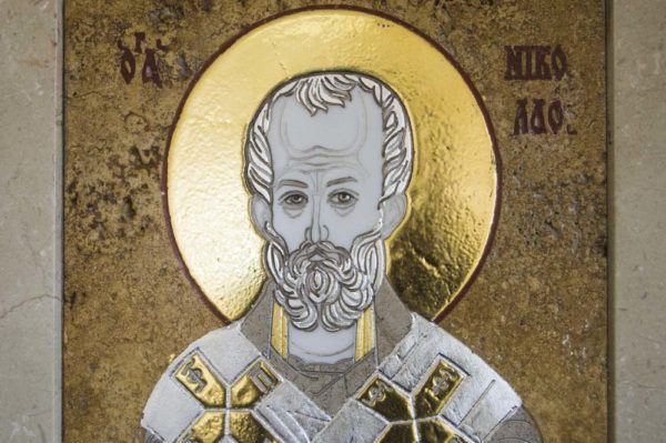 Икона Николая Чудотворца (Угодника) инд.№ 03 из мрамора, камня, изображение, фото 2