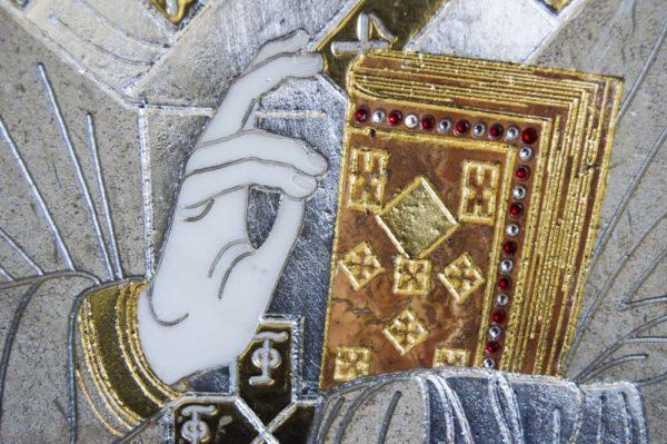 Икона Николая Чудотворца (Угодника) инд.№ 03 из мрамора, камня, изображение, фото 1