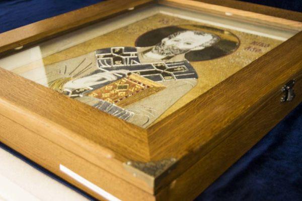 Икона Николая Чудотворца (Угодника) инд.№ 03 из мрамора, камня, изображение, фото 8