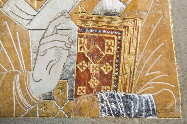 Икона Николая Чудотворца (Угодника) инд.№ 04 из мрамора, камня, изображение, фото 6