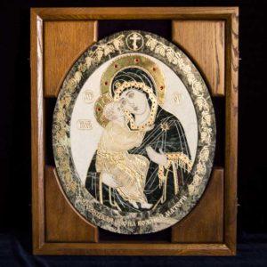 Икона Жировицкой (Жировичской) Божией Матери № п-6 из мрамора, камня, изображение, фото 10