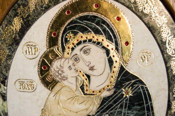 Икона Жировицкой (Жировичской) Божией Матери № п-6 из мрамора, камня, изображение, фото 6