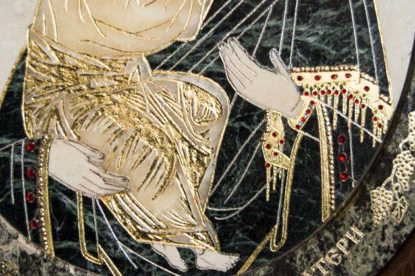 Икона Жировицкой (Жировичской) Божией Матери № п-6 из мрамора, камня, изображение, фото 11