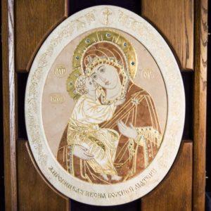 Икона Жировицкой (Жировичской) Божией Матери № п-7 из мрамора, камня, изображение, фото 8