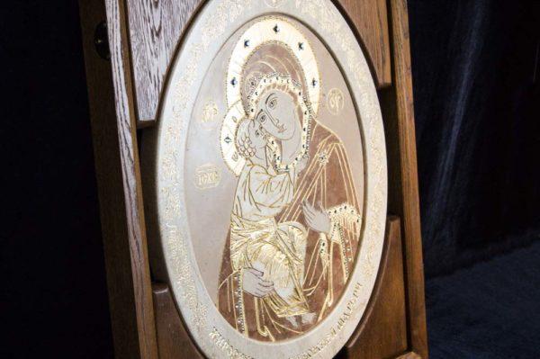 Икона Жировицкой (Жировичской) Божией Матери № п-7 из мрамора, камня, изображение, фото 4