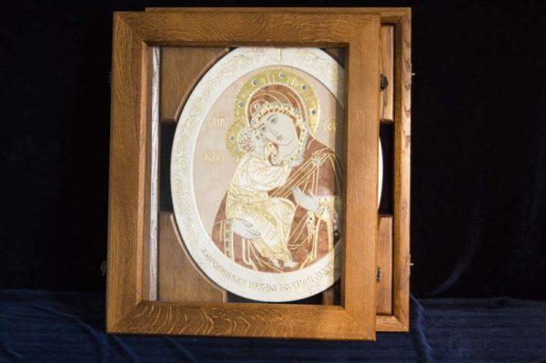Икона Жировицкой (Жировичской) Божией Матери № п-7 из мрамора, камня, изображение, фото 6