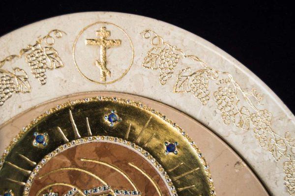 Икона Жировицкой (Жировичской) Божией Матери № п-7 из мрамора, камня, изображение, фото 10