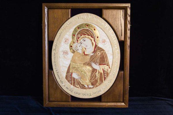 Икона Жировицкой (Жировичской) Божией Матери № п-8 из мрамора, камня, изображение, фото 11