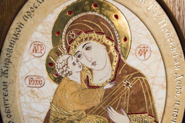 Икона Жировицкой (Жировичской) Божией Матери № п-8 из мрамора, камня, изображение, фото 9