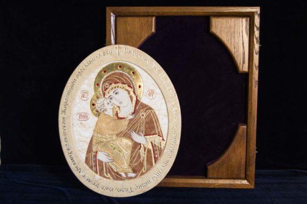 Икона Жировицкой (Жировичской) Божией Матери № п-8 из мрамора, камня, изображение, фото 5