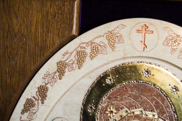 Икона Жировицкой (Жировичской) Божией Матери № п-9 из мрамора, камня, изображение, фото 6