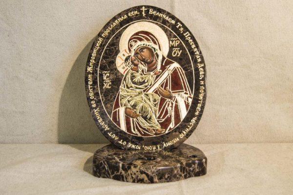 Икона Жировицкой (Жировичской) Божией Матери № 010 из мрамора, камня, изображение, фото 4