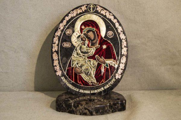 Икона Жировицкой (Жировичской) Божией Матери № 011 из мрамора, камня, изображение, фото 4