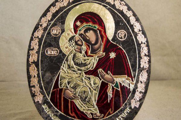 Икона Жировицкой (Жировичской) Божией Матери № 011 из мрамора, камня, изображение, фото 1