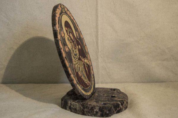 Икона Жировицкой (Жировичской) Божией Матери № 011 из мрамора, камня, изображение, фото 2