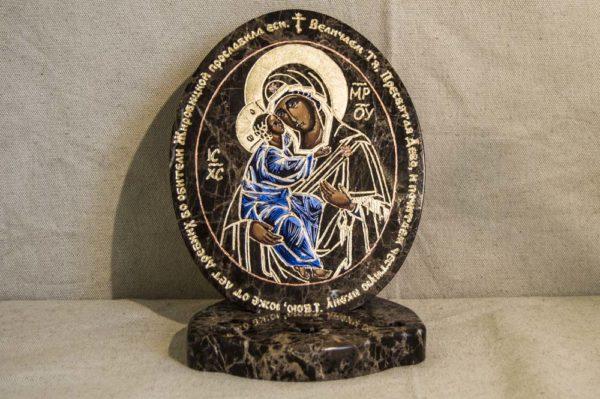 Икона Жировицкой (Жировичской) Божией Матери № 012 из мрамора, камня, изображение, фото 1