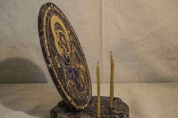 Икона Жировицкой (Жировичской) Божией Матери № 012 из мрамора, камня, изображение, фото 3