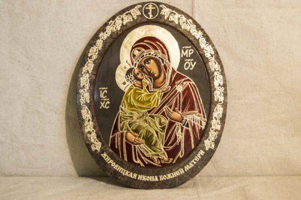 Икона Жировицкой (Жировичской) Божией Матери № 013 из мрамора, камня, изображение, фото 1