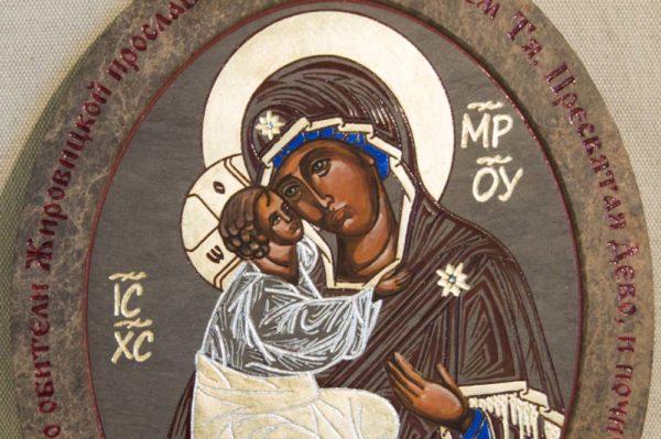 Икона Жировицкой (Жировичской) Божией Матери № 014 из мрамора, камня, изображение, фото 3